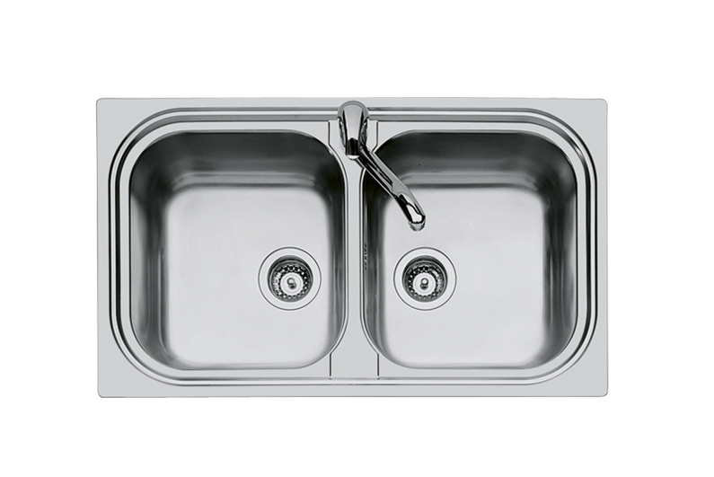 ... sink alien 2 stainless steel aisi 304 standard mount cabinet 90cm sink