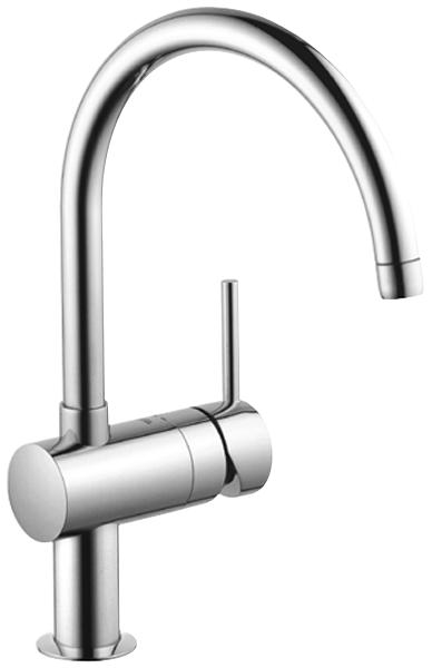 grohe 32917 000 grohe chrome kitchen mixer minta swivel tubular spout ...