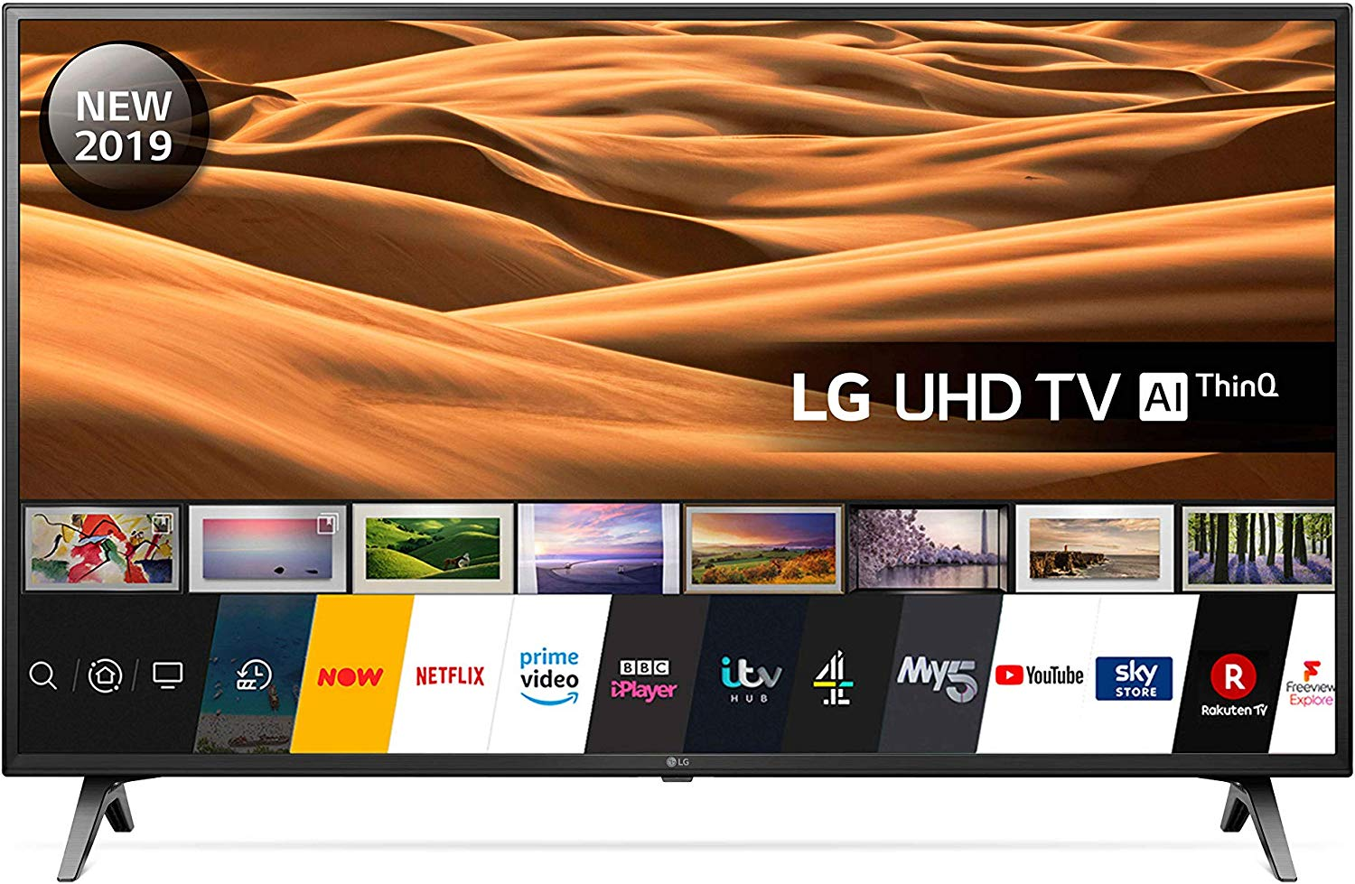 LG 43UM7100PLB  AI Ultra HD Smart TV 4K Active HDR Google Assistant and Alexa